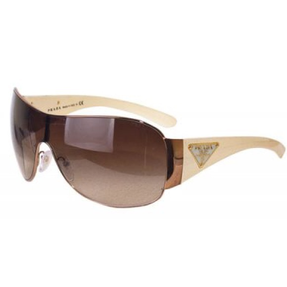 ae2ae2b226 Prada Shield Sunglasses SPR 57L ZVA-6S1 White Gold.  M 5b155b3be944bafd8bb81731
